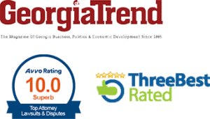 Georgie Trend, Three Rated and Top Attorney logos