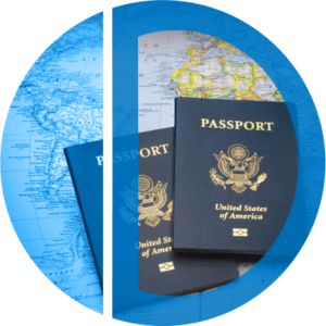 image of maps and passports