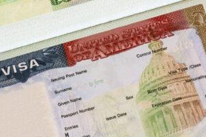 immigration visa in passport